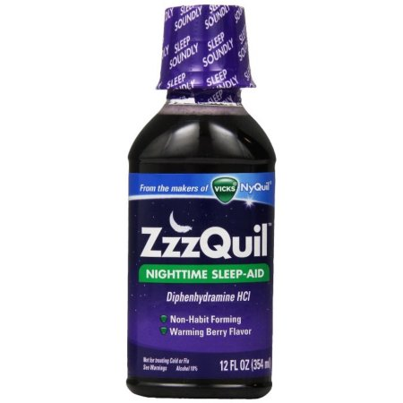 ZzzQuil Nighttime Sleep-Aid Liquid, Calentamiento Berry Flavor 12 oz (paquete de 6)