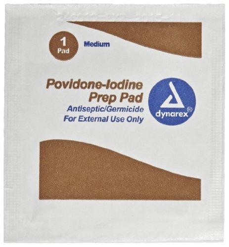 PAC-Kit de primeros auxilios sólo 12-015 PVP antiséptico de povidona yodo Wipe (caja de 10)