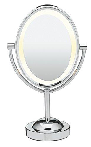 CONAIR Oval doble cara iluminada espejo, acabado en cromo