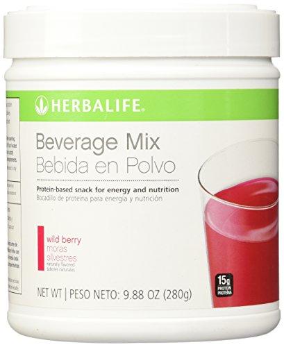 Bote de 280g de Herbalife bebida mezcla frasco de frutas del bosque