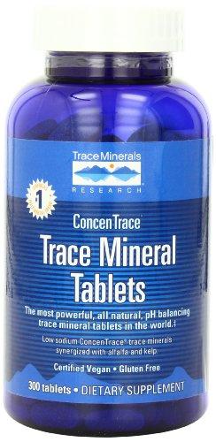 Seguimiento de investigación de minerales traza minerales tabletas, bajo contenido de sodio, 300 comprimidos