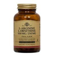 L-arginina/L-ornitina 500mg / 250mg 100 Vcaps 3-Pack