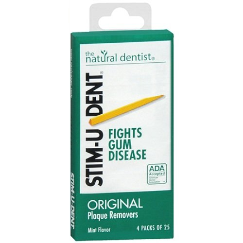 Stim-U-Dent placa removedores 12 paquetes de 25 selecciones/Pack (300 picking) - sabor de menta