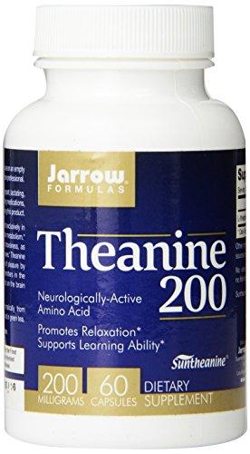 Jarrow Formulas teanina 200, 200mg, 60 cápsulas