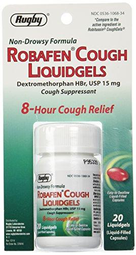 Robafen tos Liquidgels dextrometorfano HBr, USP 15mg, 20 Liquidgels (4 paquetes)
