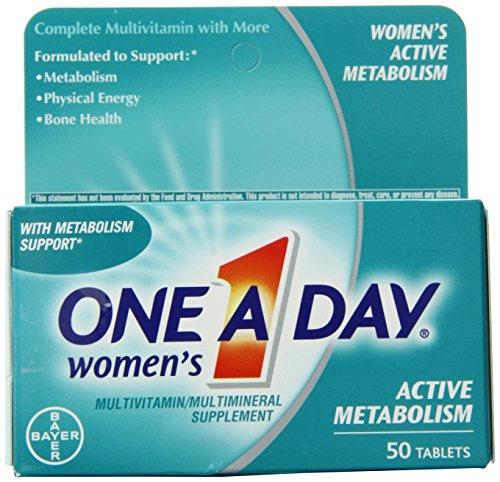 Contar de uno al día para mujeres activa metabolismo completo multivitamínico tabletas, 50