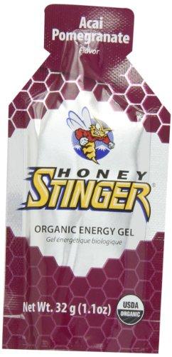 Gel de energía orgánica de miel Stinger, Acai y Granada, bolsas 1,1 onzas (paquete de 24)