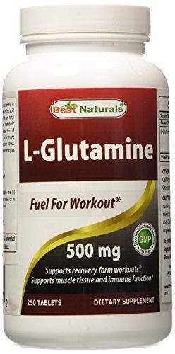 Glutamina 500 mg 250 tabletas - combustible para el entrenamiento--soportes músculo masa *--fabricado en un E.e.u.u. instalación de certificados de GMP en y tercero ha probado su pureza. Garantizado!!!!