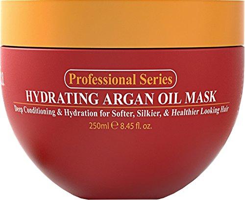 Hidratante aceite de Argan mascarilla y acondicionador profundo por Arvazallia para cabello seco o dañado - 8.45 Oz