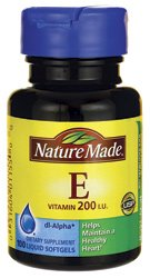 Nature Made vitamina E--200 UI - 100 cápsulas líquidas