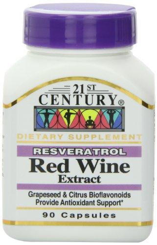 siglo XXI vino tinto Resveratrol extracto cápsulas, 90-Conde