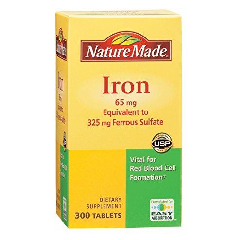 Naturaleza hizo hierro 65mg, equivalente a 325 mg sulfato ferroso - 300 comprimidos