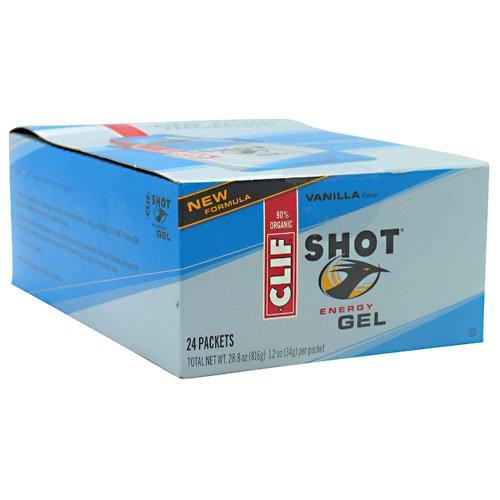 Clifbar Clif tiro energía Gel - Pack 24 vainilla, un tamaño