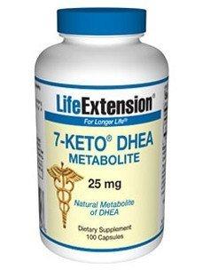 Extensión - 7 Keto DHEA 25 Mg cápsulas, 100-recuento de la vida