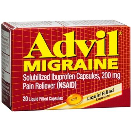 Advil Migraine 200 mg Liquid Filled Capsules 20 ea (Pack of 4)