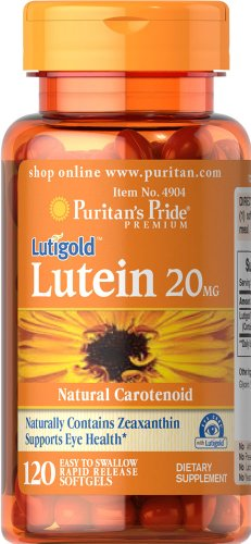 Pride luteína de Puritan 20 mg zeaxantina-120 cápsulas