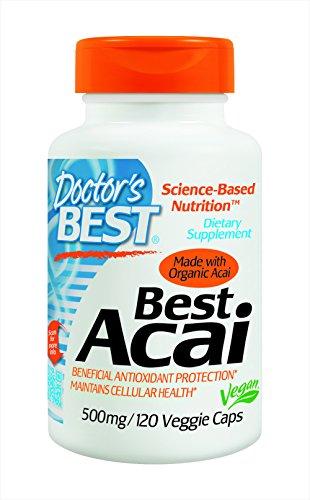 Mejor mejor Acai del doctor (500 mg), 120-Conde