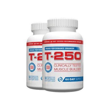 All Natural testosterona Booster para los hombres - T-250 (2 botellas) - 120 Cápsulas