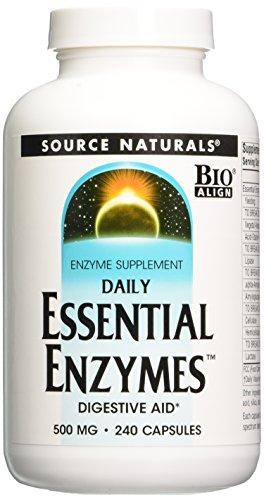 Source Naturals enzimas esenciales diarias, 500mg, 240 cápsulas