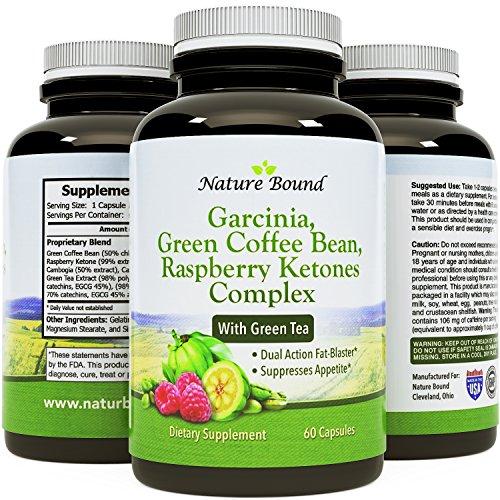 Tri-Blend - puro Garcinia Cambogia HCA, grano de café verde y cetonas frambuesas complejo por naturaleza limita