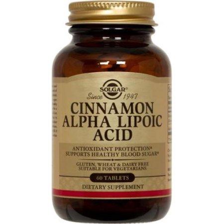 Cinnamon Ácido alfa lipoico Tabletas Solgar 60 Tabs