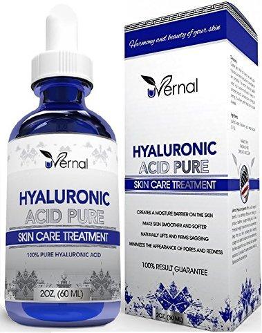 Ácido hialurónico para la piel - 100%, ácido hialurónico puro - Anti envejecimiento (2 oz) de fórmula
