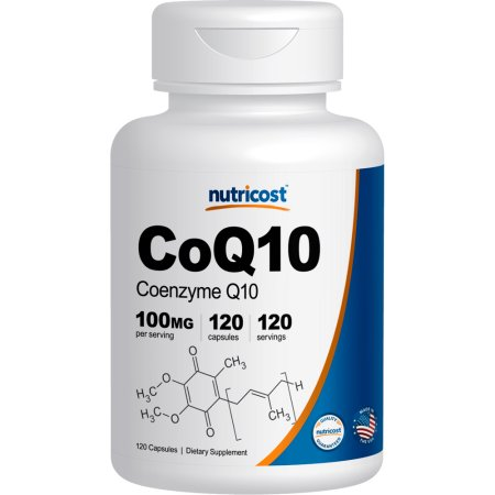 Nutricost 100 mg de CoQ10 120 - 120 Cápsulas Porciones - Alta absorción coenzima Q10