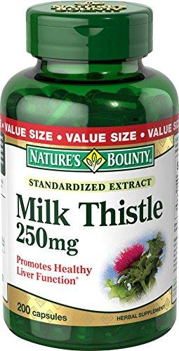Recompensa valor tamaño cardo de leche de la naturaleza 250mg, cápsulas de gelatina 200