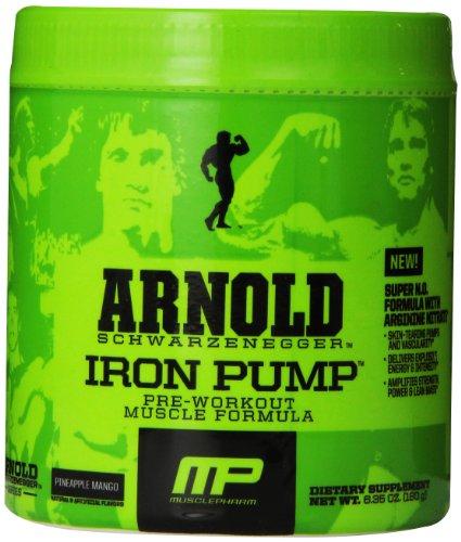 Arnold Schwarzenegger serie Arnold bomba de suplemento de hierro, Mango piña, 6,35 oz