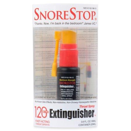 Snore Stop Extintor de 120 aplicaciones en aerosol spray Snore Stop 0,6 oz