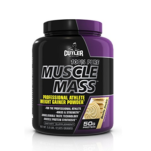 100% puro músculo masa profesional atleta de Cutler nutrición peso Gainer polvo, galleta de vainilla, 5,8 libras