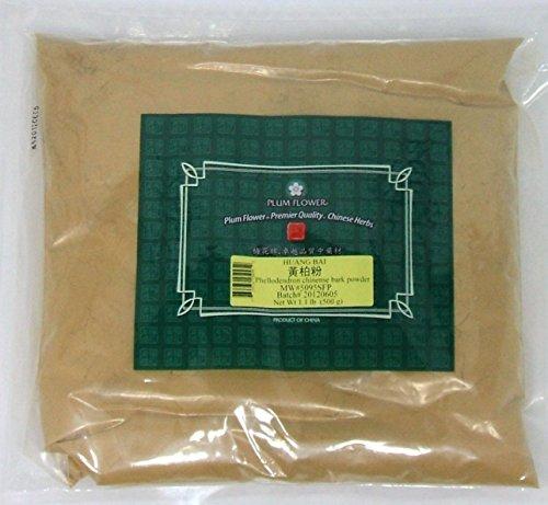 Polvo de corteza de alcornoque de Amur / Fen Huang Bai (Bo) / Phellodendron Chinense, polvo de hierba de 1lb a granel