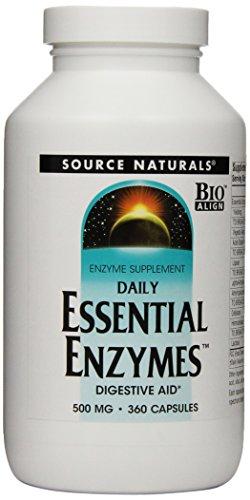 Source Naturals enzimas esenciales diarias, 500mg, cápsulas de 360