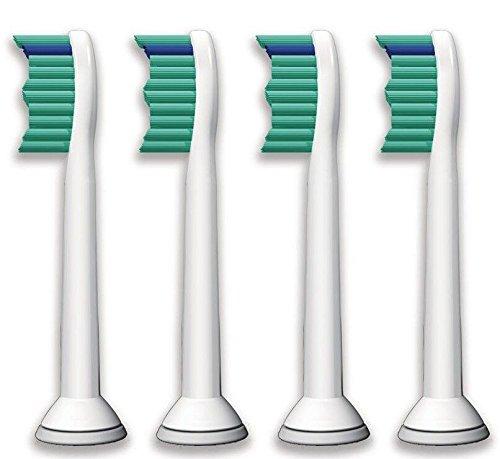 4pcs cabezas de cepillo de dientes eléctrico para Philips Sonicare Hx6530 Proresult Hx6014 Hx6013