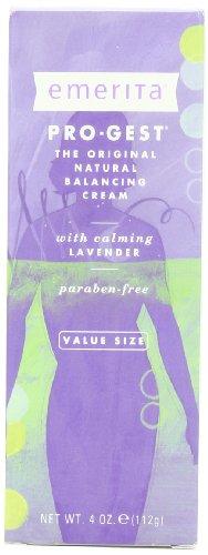 Emerita Natural Pro-gest equilibrio crema con lavanda, 4 onzas