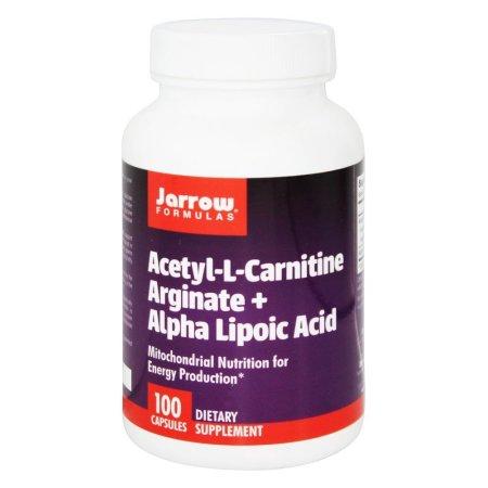 Jarrow Formulas - Acetil L-carnitina Arginate - ácido alfa lipoico - 100 Cápsulas