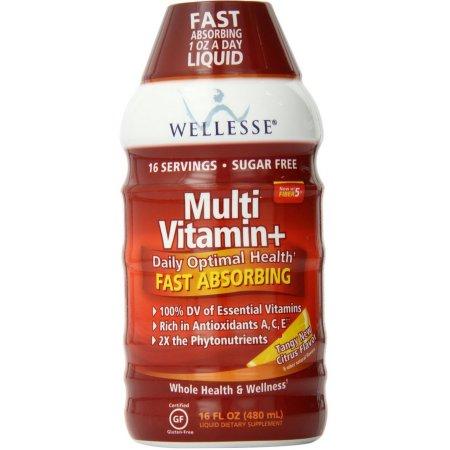 Wellesse multivitamínico de rápida absorción completa del complejo B fuerte y picante sabor Citrus Nueva 16 oz