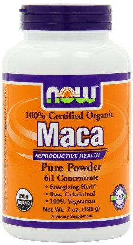 Ahora alimentos orgánicos Maca 6:1 concentrado polvo, 7 onzas