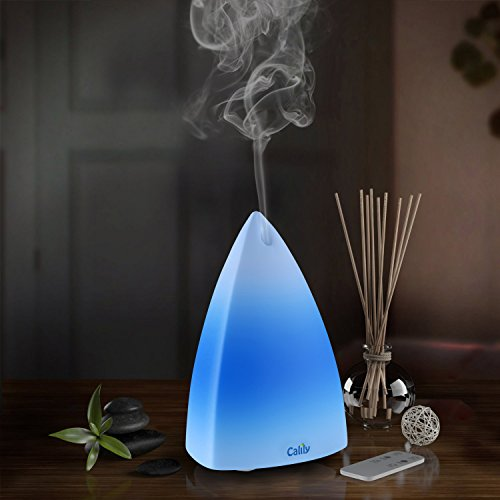 Calily aceites esenciales ultrasónicos difusor aromaterapia con Control remoto, relajante y calmante la luz LED de varios colores