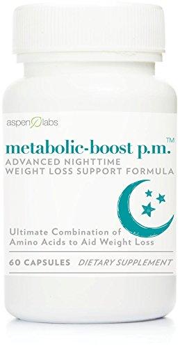Impulso metabólico PM por Aspen Labs - bajar de peso mientras te sueño con los mejores clínicamente probada mezcla de aminoácidos | Especialmente para mujeres mayores de 40 | Suplemento para bajar de peso máximo nocturno Natural | Estimulante gratis