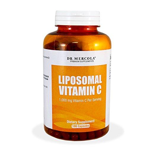 Dr. Mercola liposómica vitamina C 1.000 mg - mayor biodisponibilidad potencial y la protección frente a molestias intestinales - 180 cápsulas