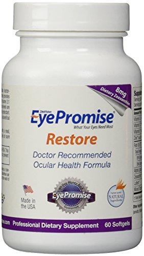 EyePromise restaurar suplemento - Salud Macular completo fórmula con luteína y la zeaxantina nutrición Ocular