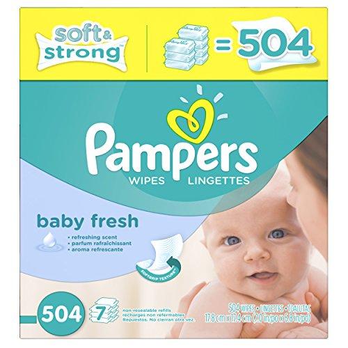 Pampers toallitas frescas del bebé Softcare x 7 caja, cuenta 504