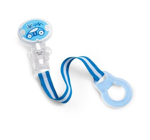 Nacido libre BPA-libre chupete titular, azul
