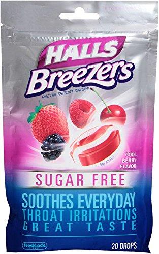 Salas de azúcar gratis Breezers, Berry Cool, cuenta 20 gotas (Pack de 12)