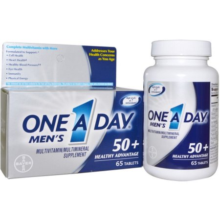 One-A-Day Vitaminas para hombres mayores de 50 años 65 Cápsulas x 3 Frascos