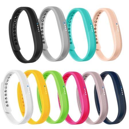 10 PAQUETE Fitbit Flex 2 Bandas de reemplazo Muñequera Accesorios Clásico Material de TPU Deporte Correa para el 2016 Fitbit Flex rastreador 2 de fitness (Pequeño)