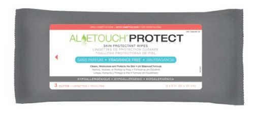 MEDLINE MSC095223H Aloetouch proteger piel Dimethicone Protectant Wipes