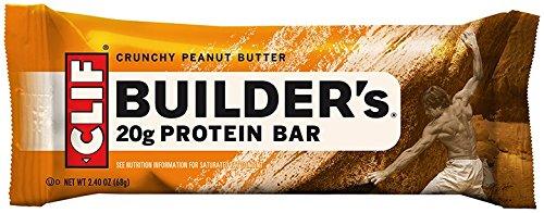 CLIF BUILDER - barra - mantequilla de cacahuete crujiente - (2,4 oz, cuenta 12) de proteínas