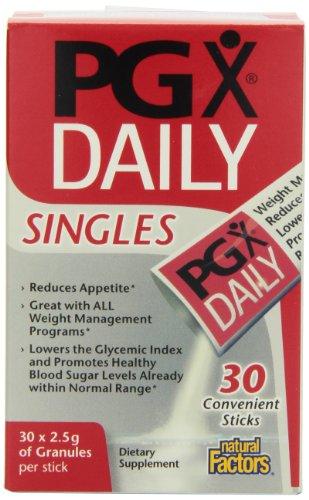 Factores naturales PGX Daily Singles, 2,5 g, 30-cuenta